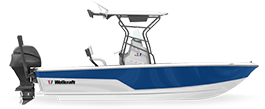 Wellcraft 221 Fisherman bay boat